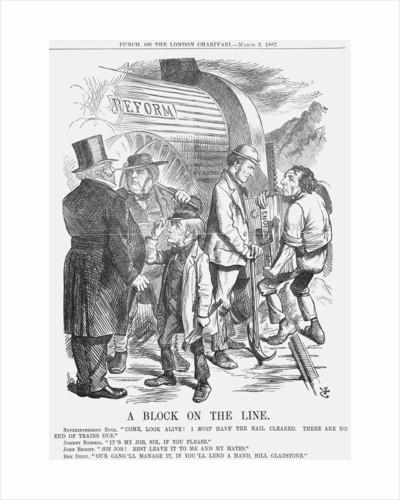 A Block on the Line by John Tenniel