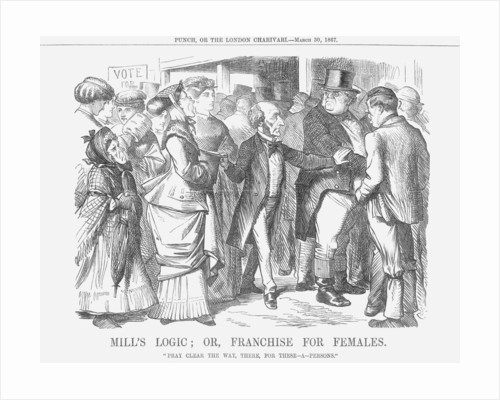 Mills' Logic; or, Franchise for Females by John Tenniel