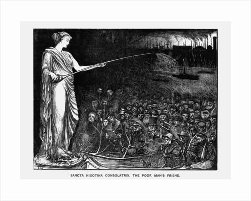 Sancta Nicotina Consolatrix. The Poor Man's Friend by George du Maurier