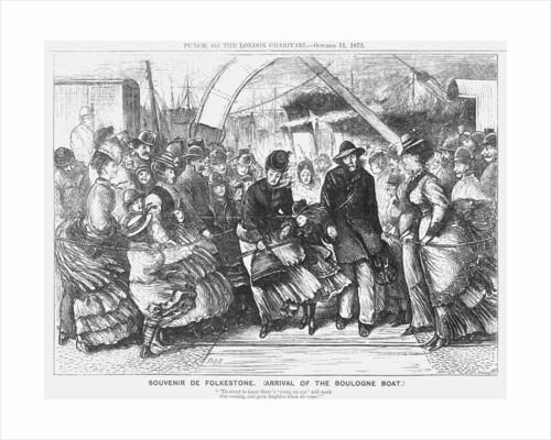 Souvenir de Folkestone (Arrival of the Boulogne Boat) by Joseph Swain