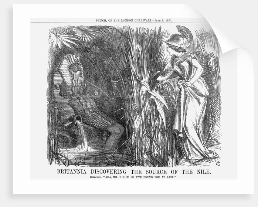 Britannia Discovering The Source of The Nile by John Tenniel
