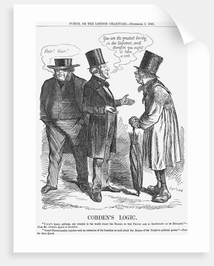 Cobden's Logic by John Tenniel