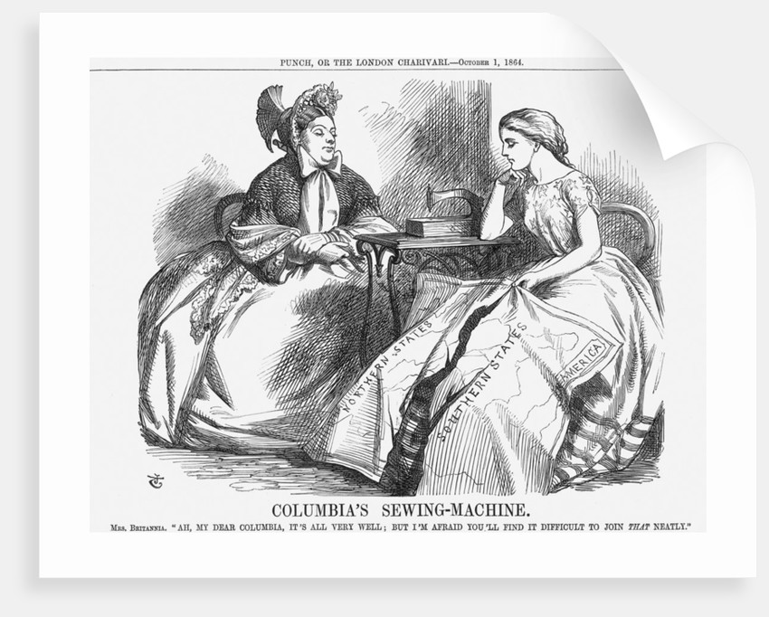 Columbia's Sewing-Machine by John Tenniel