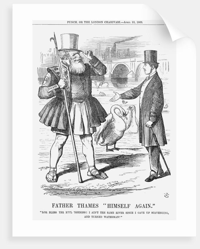 Father Thames Himself Again by John Tenniel