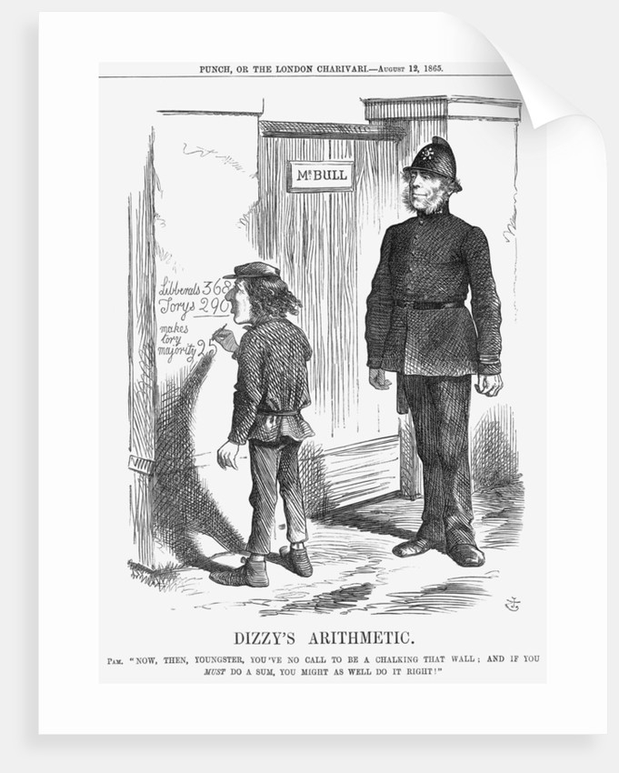 Dizzy's Arithmetic by John Tenniel