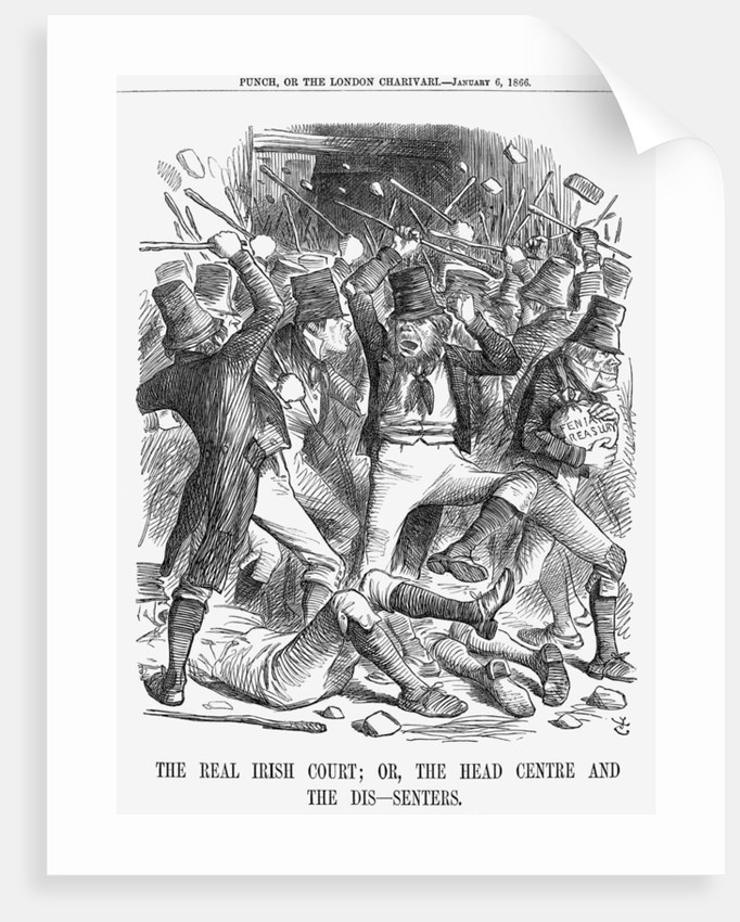The Real Irish Court; Or, The Head Centre And The Dis-Senters by John Tenniel
