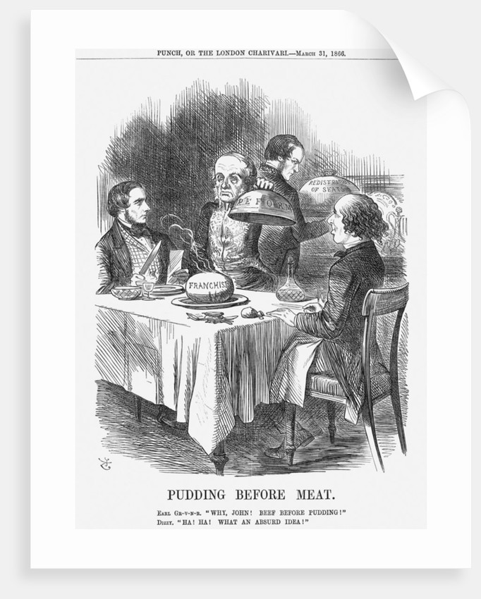 Pudding before Meat by John Tenniel