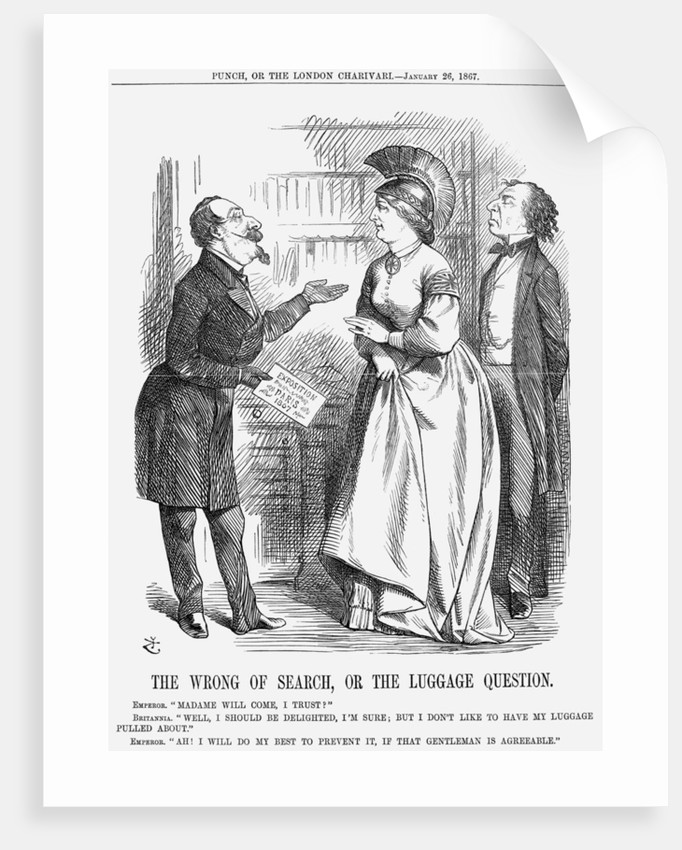 The Wrong of Search, or The Luggage Question by John Tenniel