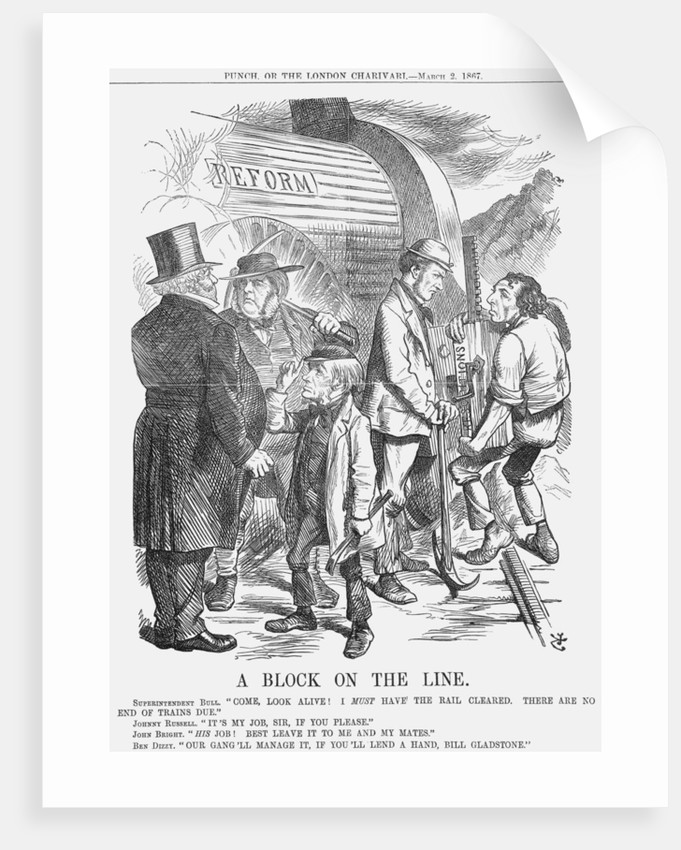 A Block on the Line by John Tenniel