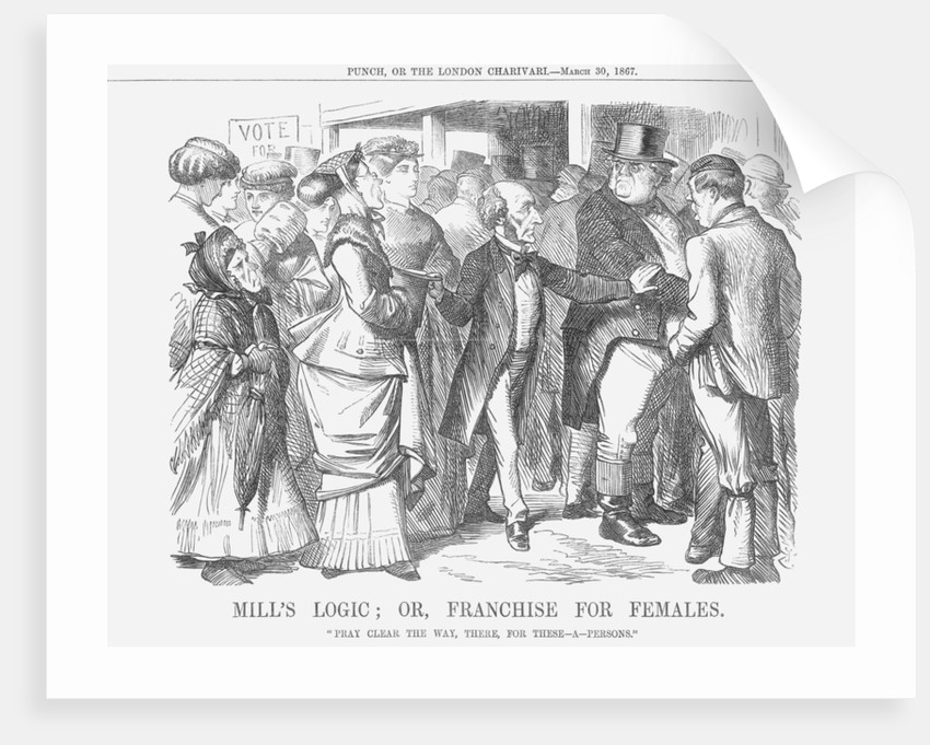Mills' Logic; or, Franchise for Females by John Tenniel
