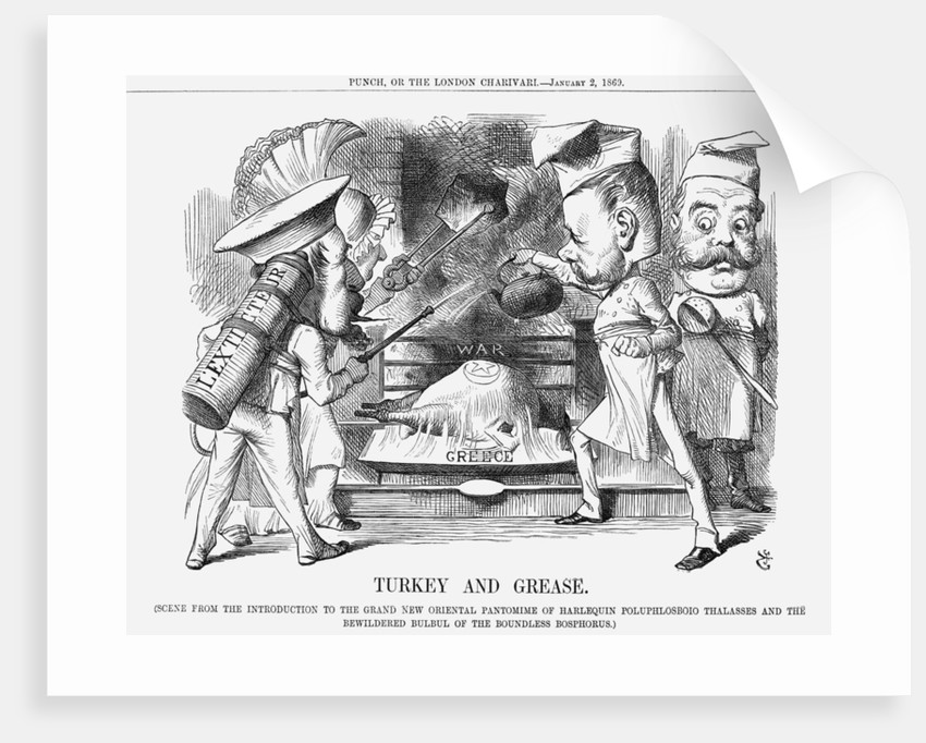 Turkey and Grease by John Tenniel