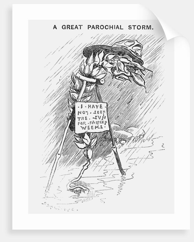 A Great Parochial Storm by Edward Linley Sambourne