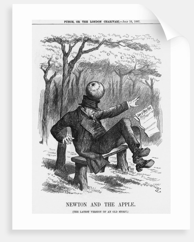 Newton and the Apple by Joseph Swain