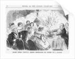 Grand Burns' Festival. - Brown Entertains his Friend wi' a Haggis! by John Leech
