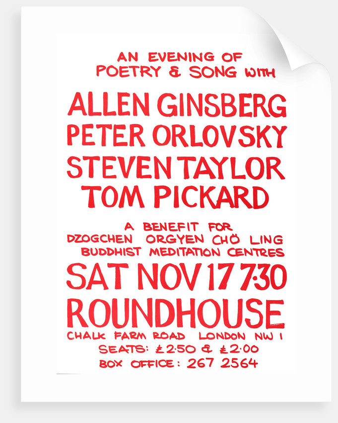 An Evening of Poetry and Song with Allen Ginsberg, Peter Orlovsky, Steven Taylor, Tom Pickard (July 1967) by Anonymous