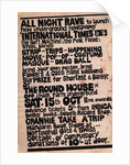 All Night Rave (Roundhouse's first gig which featured Pink Floyd) (1966) by Anonymous