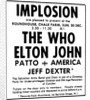 Implosion - The Who, Elton John (1970) by Anonymous