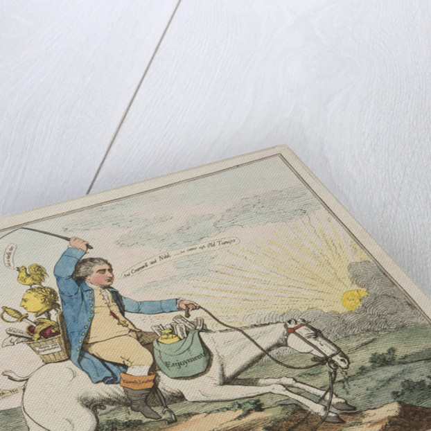 A Sun setting in a Fog: with the Old Hanover Hack descending, 1783 by James Gillray