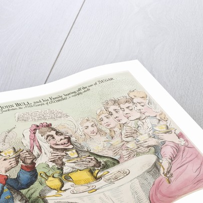 Anti-Saccharrites, - or - John Bull and his Family leaving off the use of Sugar, 1792 by James Gillray
