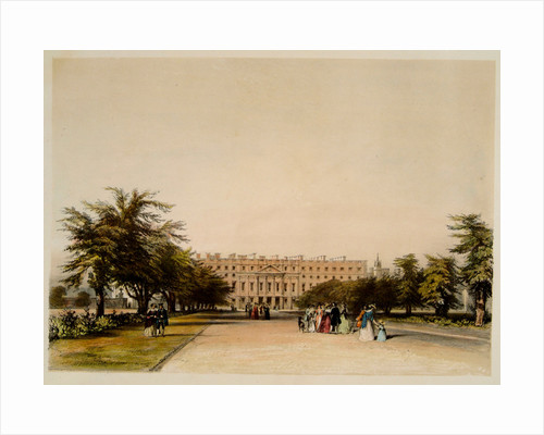 East Front and Great Fountain Garden, Hampton Court Palace by David Cox Junior