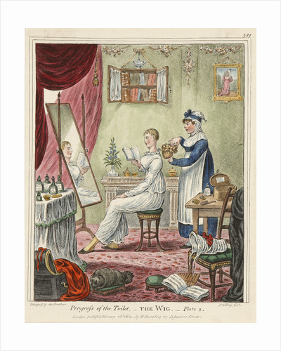 Progress of the Toilet. Plate 2, The Wig by James Gillray
