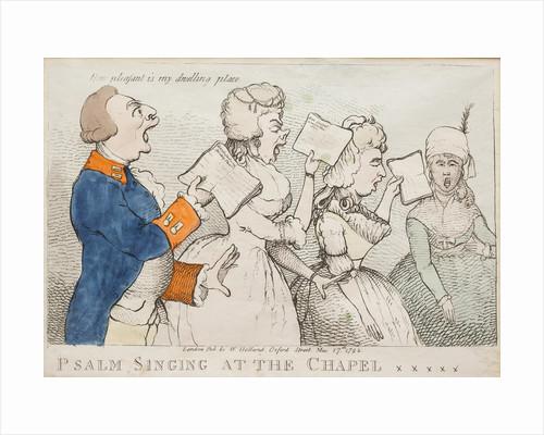 Psalm Singing at the Chapel Royal, 1792 by Richard Newton
