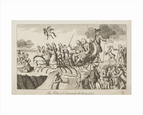 The Political Cartoon, for the Year 1775 by Unknown