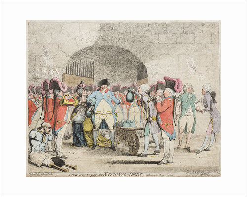 A new way to pay the National-Debt, 1786 by James Gillray