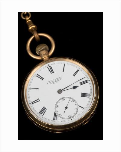 Gold lever watch, 1892 by Edward Ashley