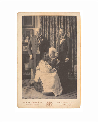 Queen Victoria with her son, grandson and great-grandson, 1894 by Unknown