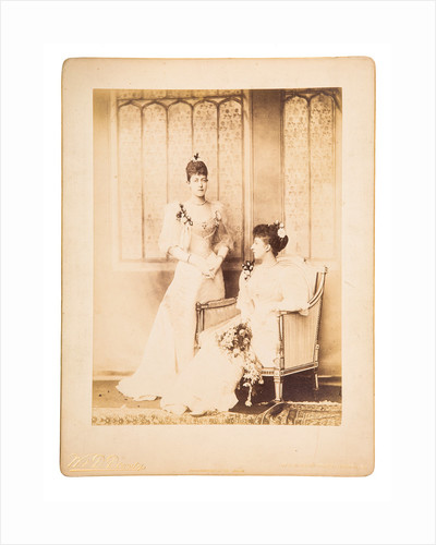 Princess Victoria and Princess Maud, 1893 by W & D Downey