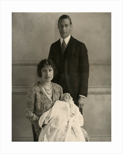 The Duke and Duchess of York with Princess Elizabeth, 1926 by Unknown