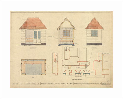 Hampton Court Green, tramway shelter, 1925 by Unknown