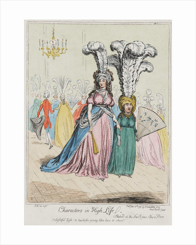 Characters in high life, 1795 by James Gillray