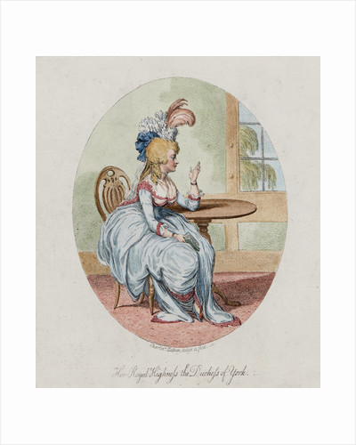 Her Royal HIghness the Duchess of York, 1792 by Charlotte Zethen