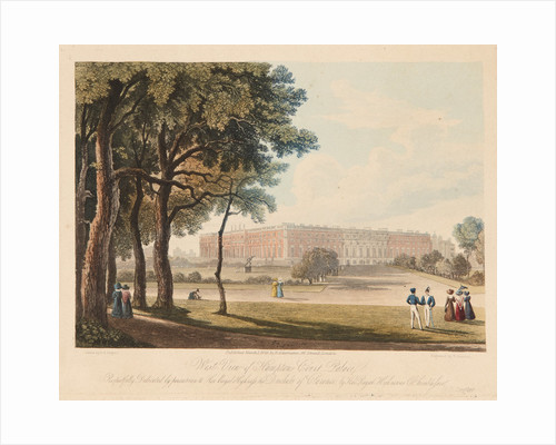 The Great Fountain Garden, Hampton Court Palace, 1829 by Henry Bryan Ziegler