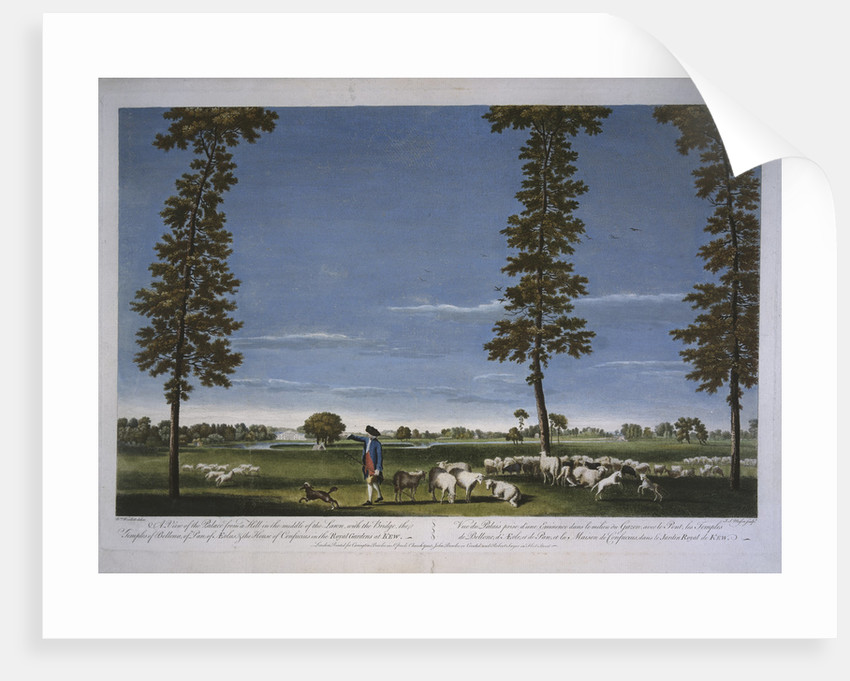A view of the White House at Kew, 1760s by J S Mason