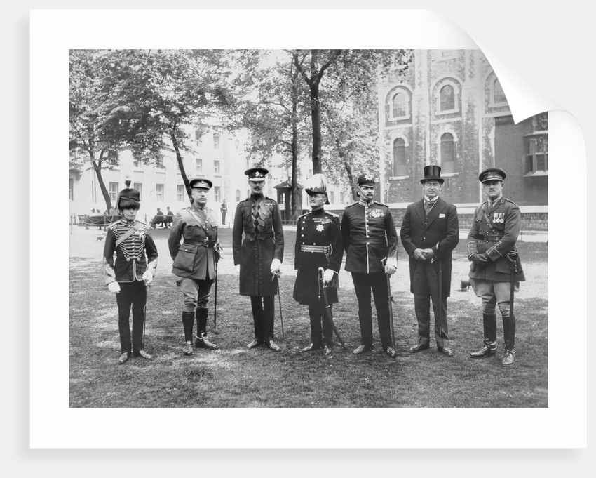 Officials assembled at the Tower of London for the Beating of the Bounds, 1927 by Unknown