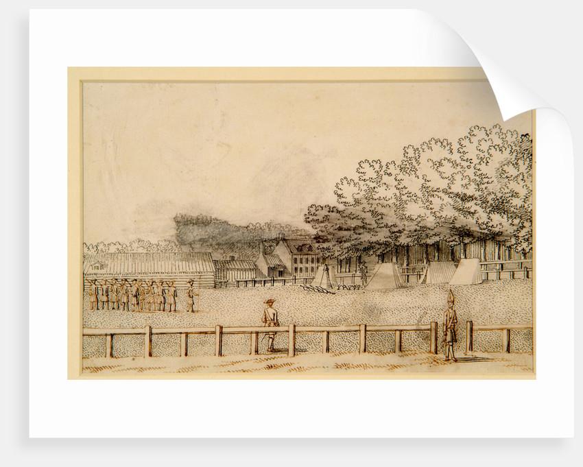 Encampment of Soldiers, Hampton Court Green, 1731 by Bernard Lens III