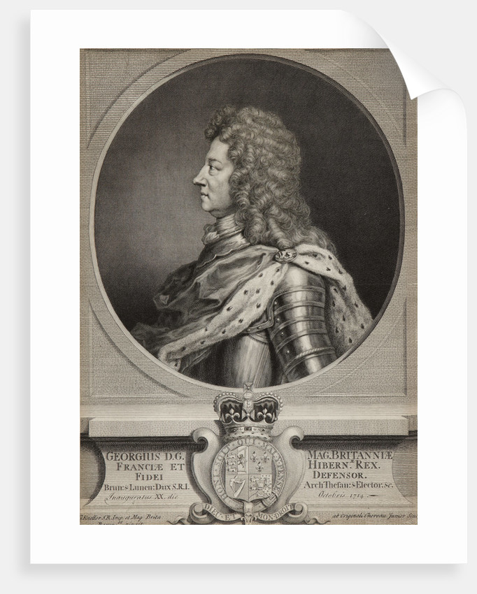 King George I by Jacques Chereau the Younger