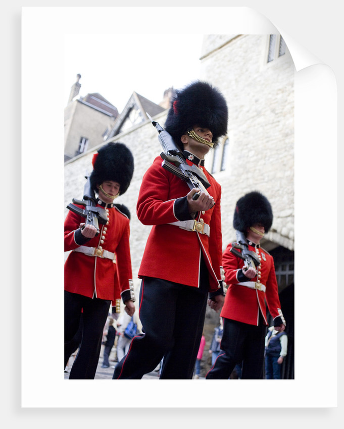 Guardsmen marching, Tower of London by Unknown