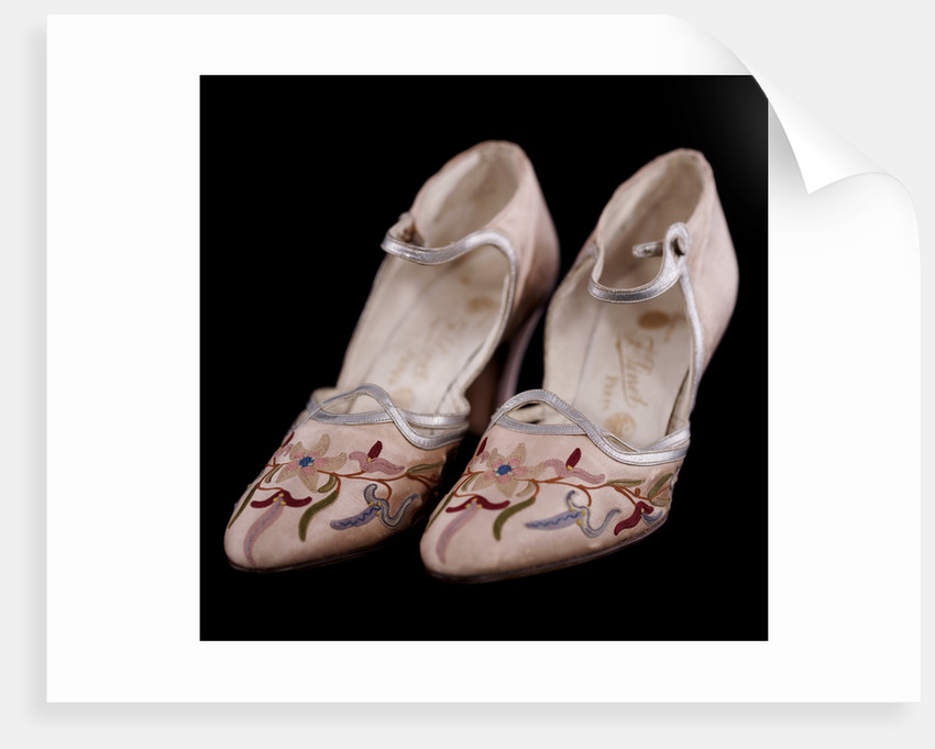 Embroidered shoes, c1920-30 by Unknown