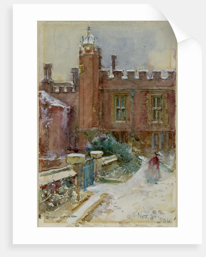A figure in the snow, 1904 by Enoch Ward