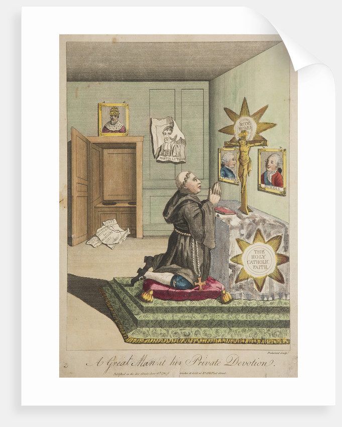 A Great Man at his Private Devotion, 1780 by Unknown