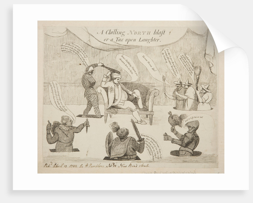 A chilling North blast or a tax upon laughter, 1782 by Unknown