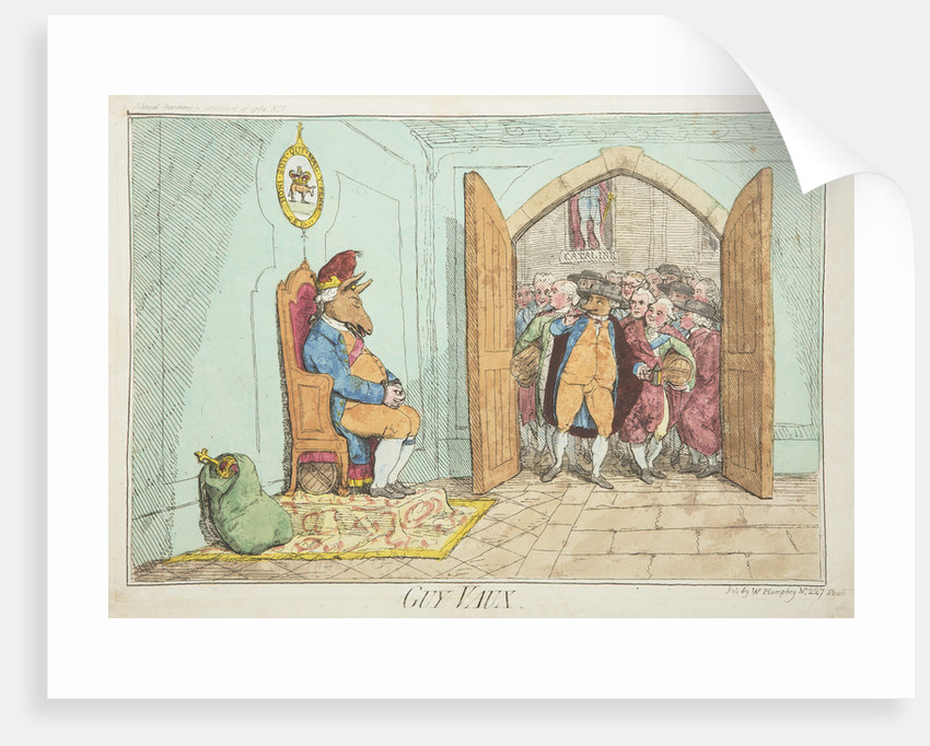 Guy Vaux by James Gillray, 1782 by James Gillray