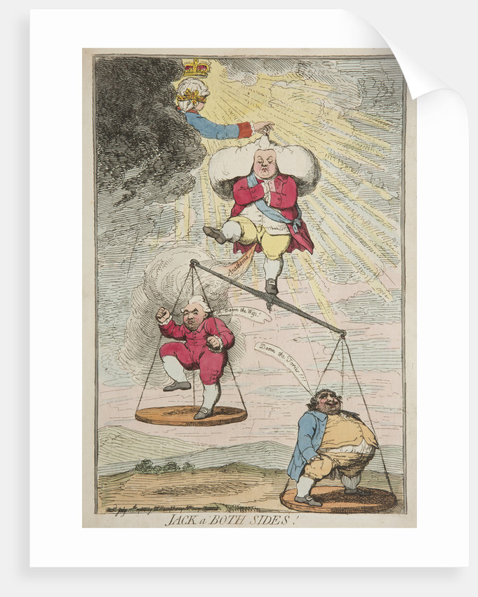 Jack a'both sides, 1783 by James Gillray