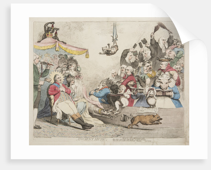 Ancient Music, 1787 by James Gillray