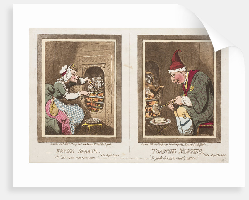 Frying Sprats, Toasting Muffins, 1791 by James Gillray