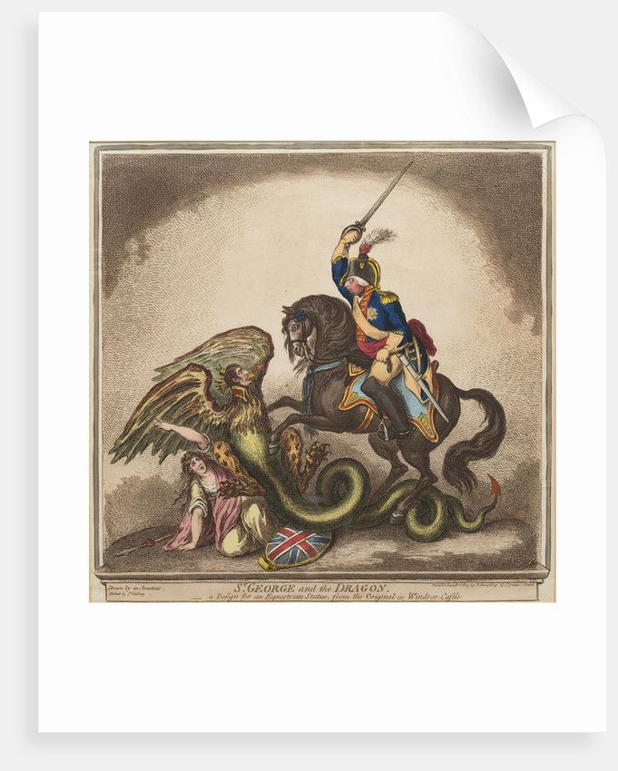 St George and the Dragon, 1805 by James Gillray